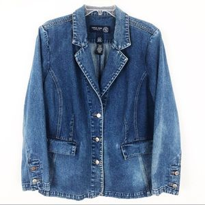 Lane Bryant Venezia Button Front Jean Jacket